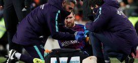 """برشلونة يكشف عن طبيعة اصابة """"ميسي"""" وموقفه من المشاركة في """"الكلاسيكو"""""""