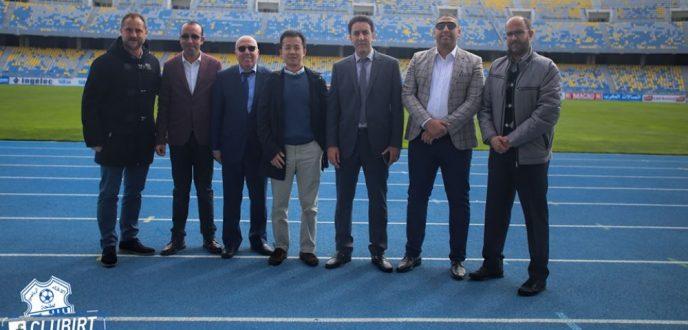 وفد من نادي اسبانيول  برشلونة يزور اتحاد طنجة لتوقيع اتفاقية شراكة