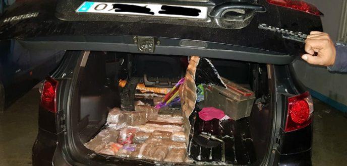 ايقاف مغربي بباب سبتة حاول تهريب المخدرات داخل سيارته