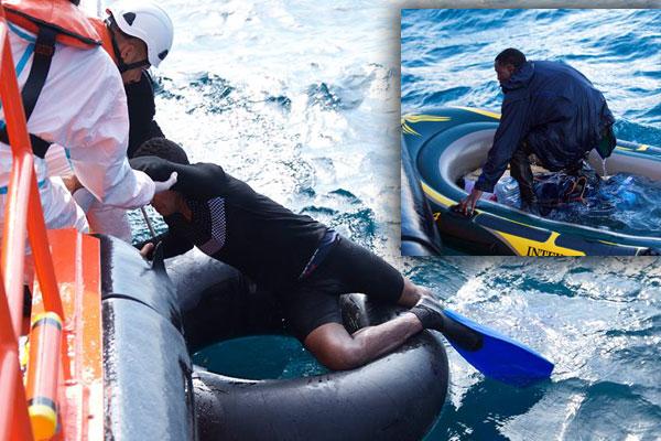 السلطات الاسبانية تنقذ مهاجر مغربي حاول الوصول الى أرضيها على متن عجلة مطاطية