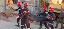 مصرع عامل في حادثة انهيار ورش بناء لتعبيد الطريق السياحي بوزان