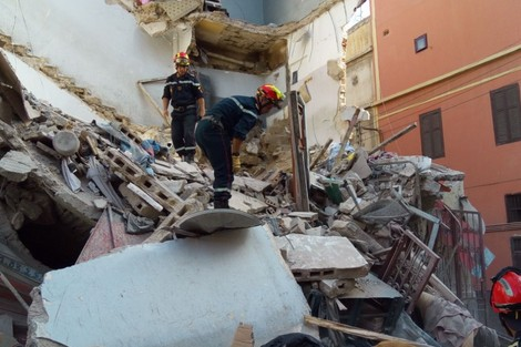 الرياح القوية تتسبب في انهيار منزلين في الدار البيضاء