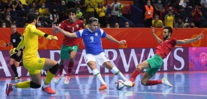 """منتخب المغرب لـ""""فوتسال"""" يودع نهائيات كأس العالم بأداء """"مشرف"""" أمام البرازيل"""